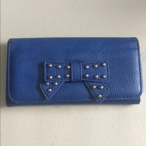 Handbags - Blue wallet w bow & studs